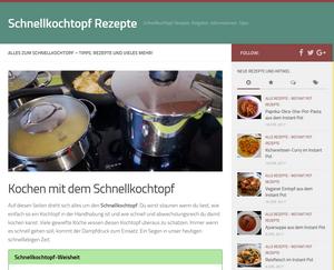 Screenshot Schnellkochtopf-Rezept.de