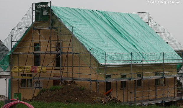 Unsere Holz100-Baustelle am Ende des 22.4.2013