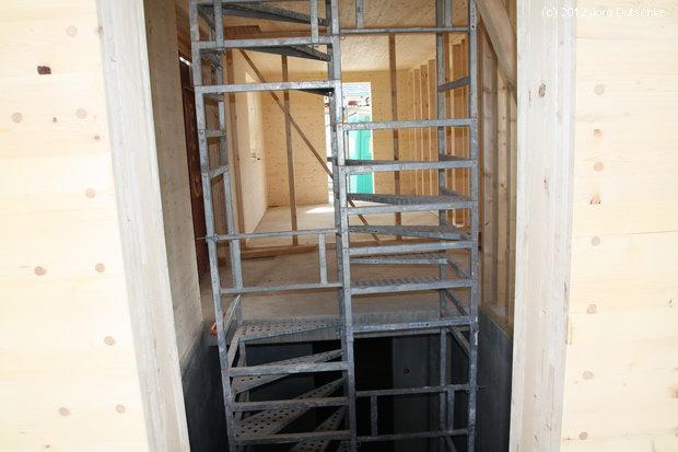 Die Bautreppe in unserem Holz100-Haus