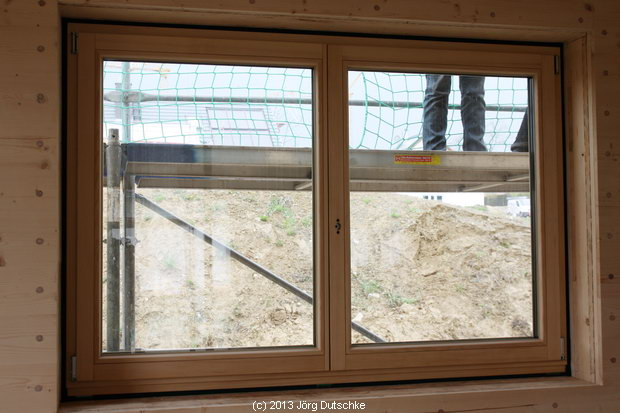 Fenster eingebaut im Holz100-Haus