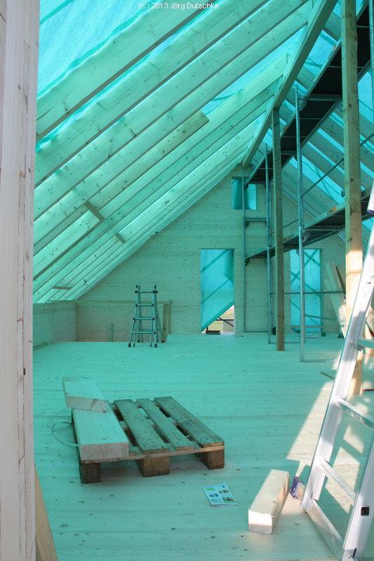 Dachgeschoß in Holz100-Haus