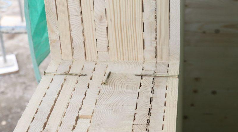 Holz100-Wand