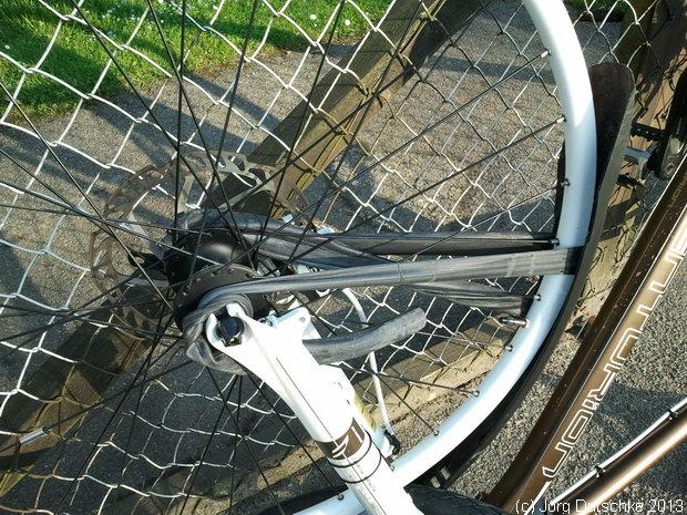 geplatzter Fahrrad-Reifen