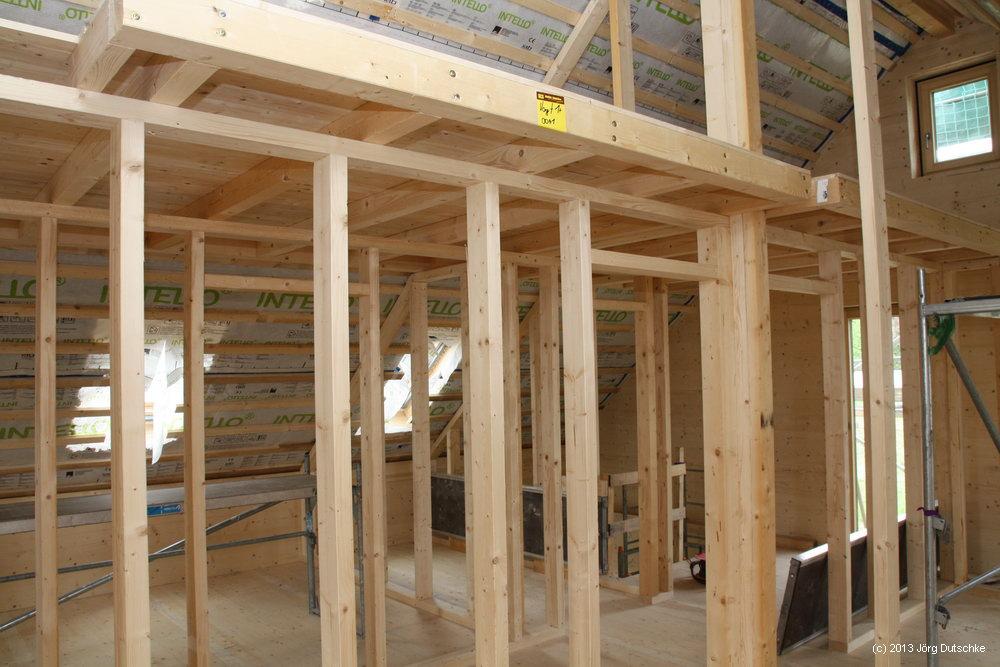 Die Galerie in unserem Holz100-Haus.