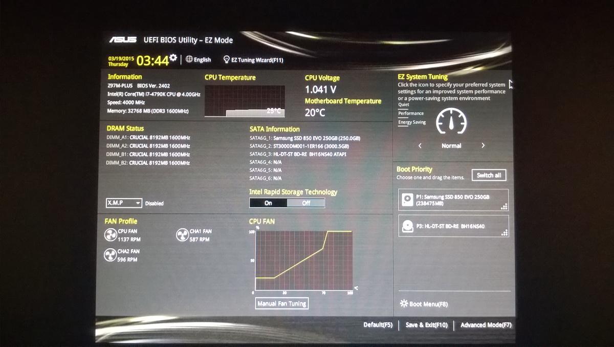 Das BIOS des euen Rechners