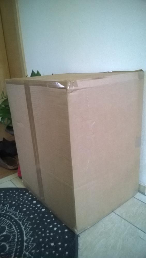 Großes Paket - vermutlich mit gekauftem Computer!