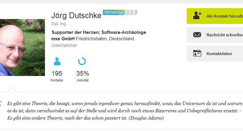 Jörg Dutschke hat einen neuen Job!