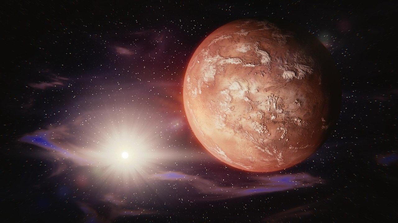 Fantasy-Bild vom Mars