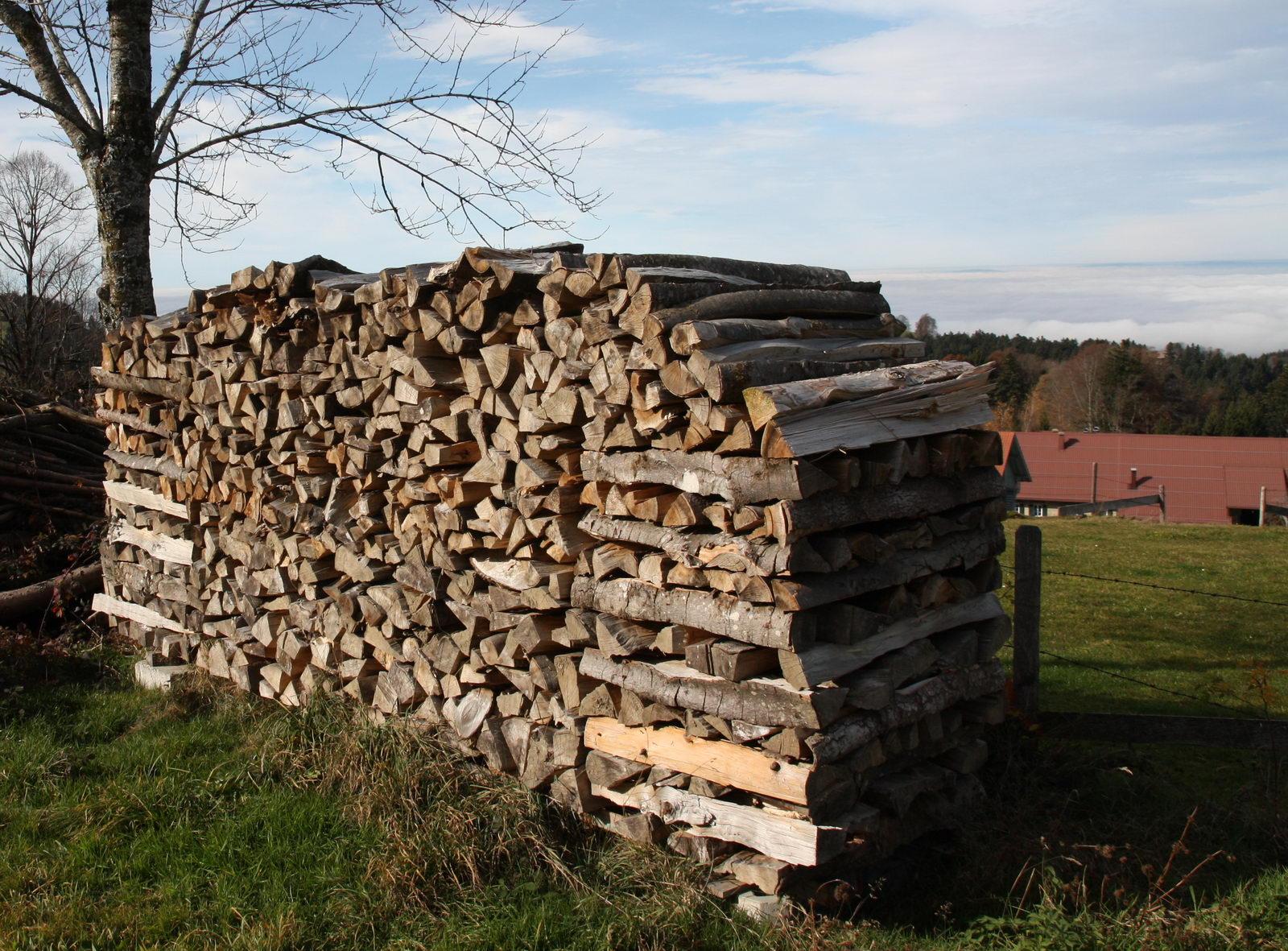 Anleitung zum Holz stapeln