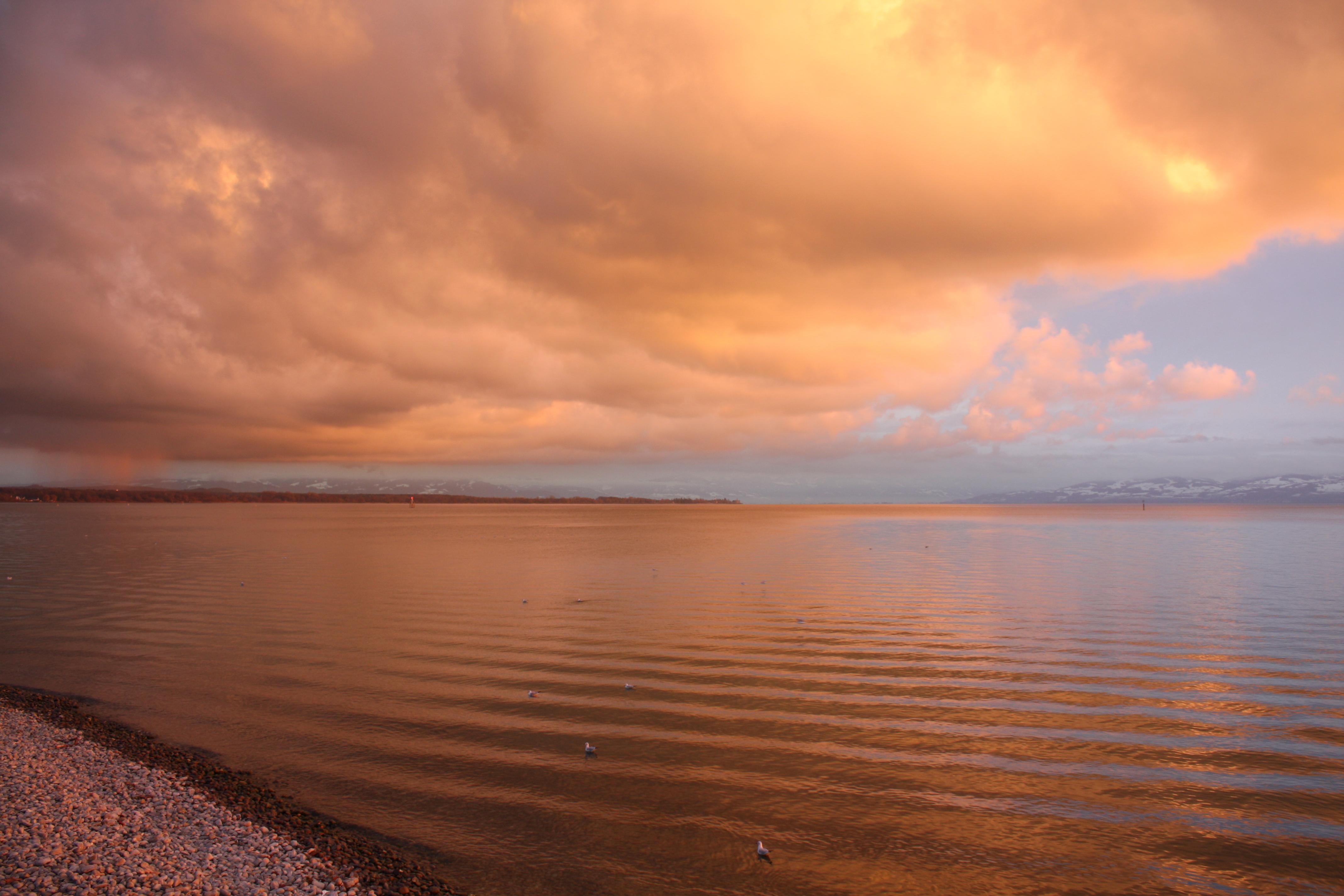 Regenschauer über dem Bodensee
