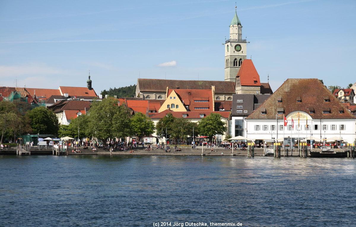 Überlingen am Bodensee - Blick vom Schiff aus