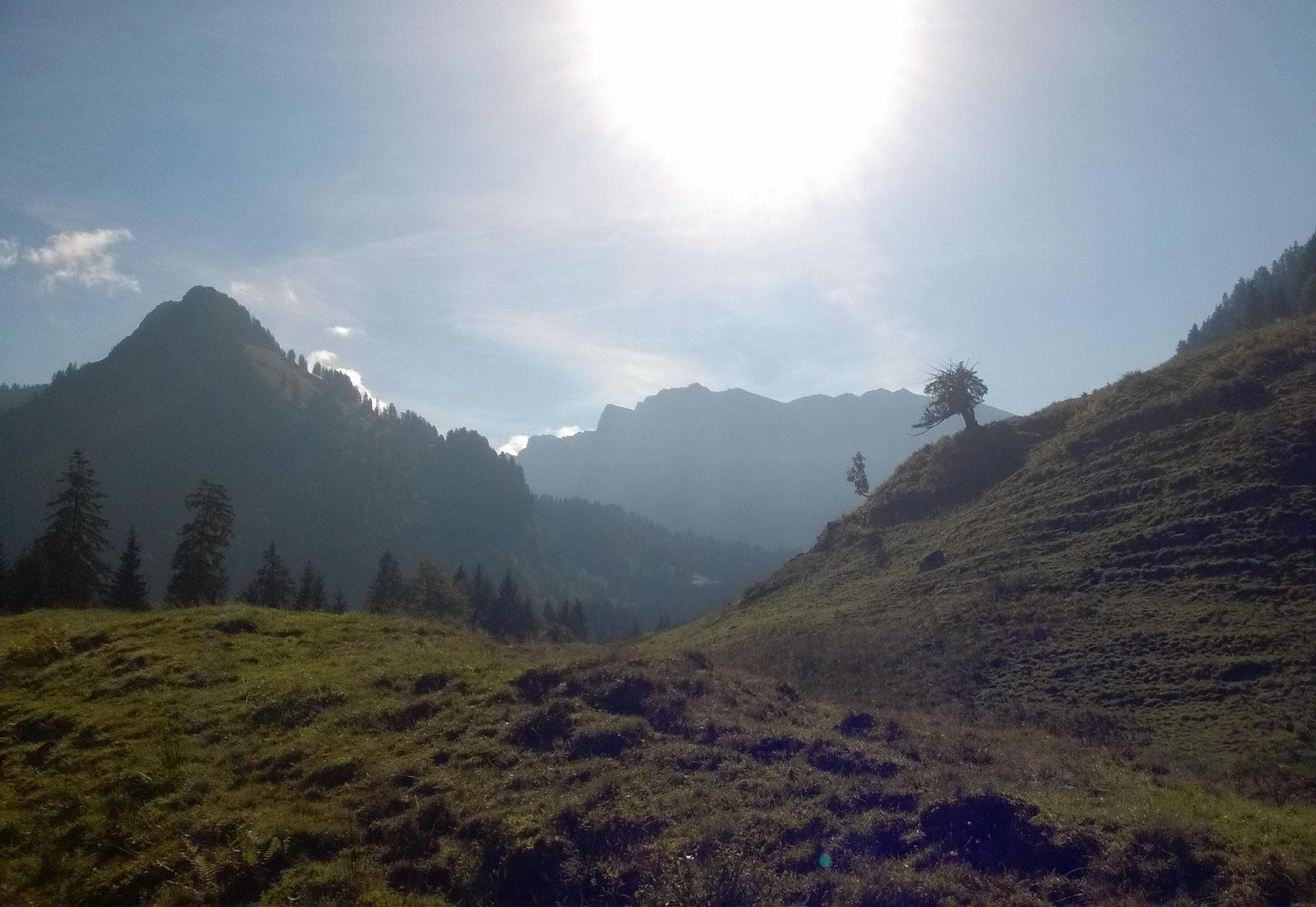 Auf dem Weg von Schönenbach zur Schneckenloch-Höhle