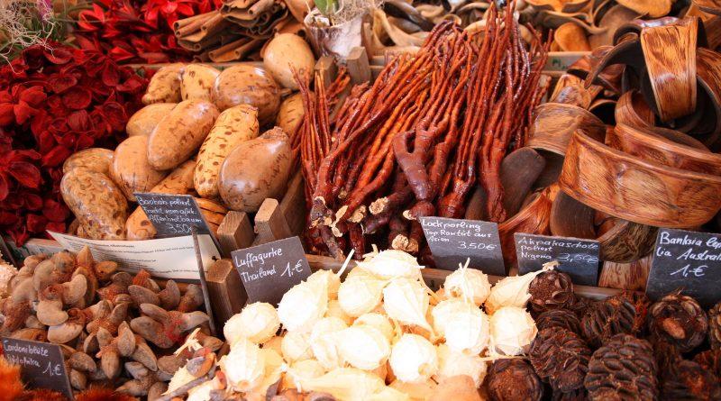 Stand ein einem Wochenmarkt am Bodensee